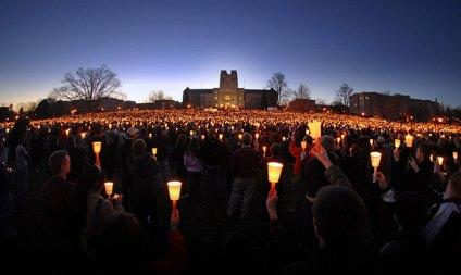 candlelight vigil - VTDrillfield